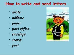 write address paper post office envelope stamp post
