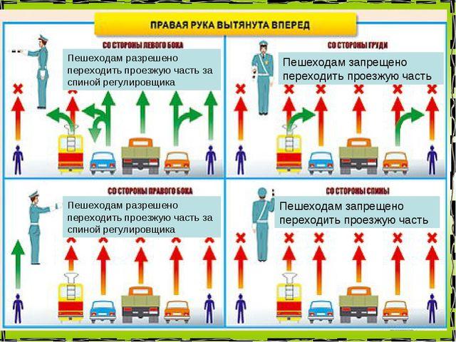 Пешеходам разрешено переходить проезжую часть за спиной регулировщика Пешеход...