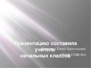 Презентацию составила учитель начальных классов Никитина Елена Анатольевна М