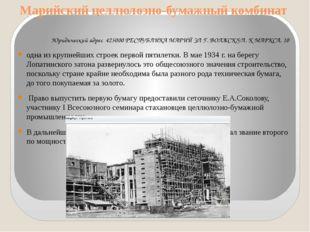 Марийский целлюлозно-бумажный комбинат Юридический адрес 425000 РЕСПУБЛИКА МА