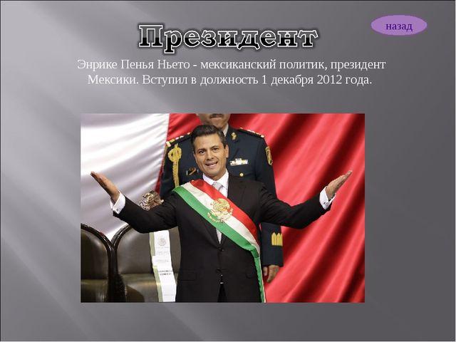 Энрике Пенья Ньето - мексиканский политик, президент Мексики. Вступил в должн...