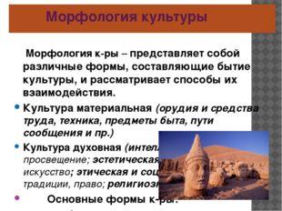 Морфология культуры Морфология к-ры – представляет собой различные формы, со