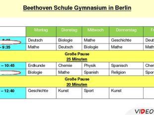 Beethoven Schule Gymnasium in Berlin Erdkunde Musik Geschichte in Englisch 5