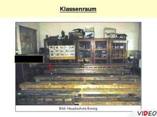 Klassenraum Tintenfass Bild: Hauptschule Borsig