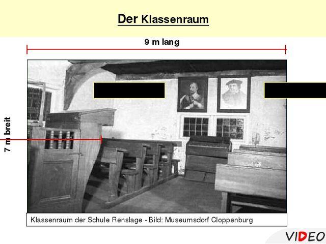 Der Klassenraum 9 m lang 7 m breit Klassenraum der Schule Renslage - Bild: M...