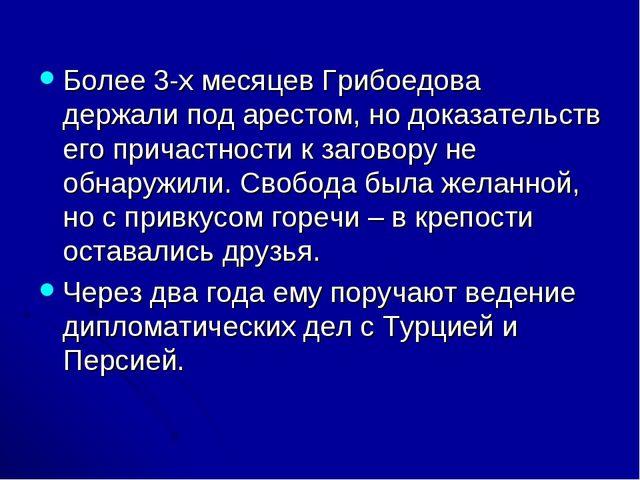 Более 3-х месяцев Грибоедова держали под арестом, но доказательств его причас...
