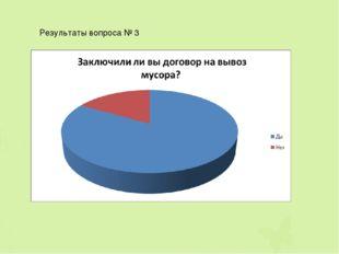 Результаты вопроса № 3
