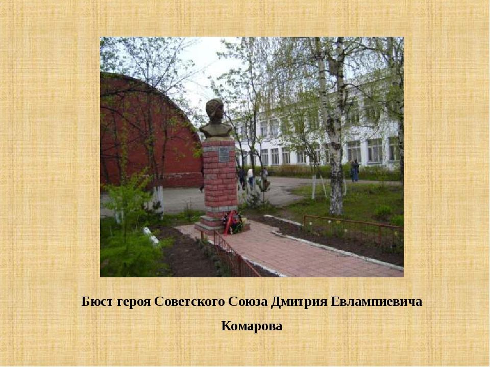 Бюст героя Советского Союза Дмитрия Евлампиевича Комарова