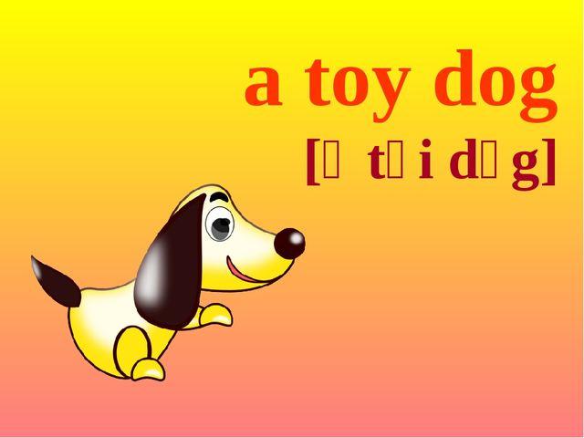 a toy dog [ə tɔi dɔg]