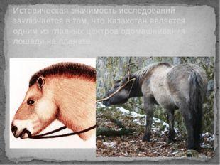 Историческая значимость исследований заключается в том, что Казахстан являетс
