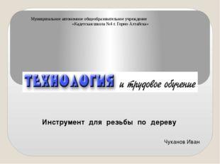 Инструмент для резьбы по дереву Чуканов Иван Муниципальное автономное общеобр
