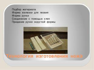 Технология изготовления ножа Подбор материала Форма железки для лезвия Форма