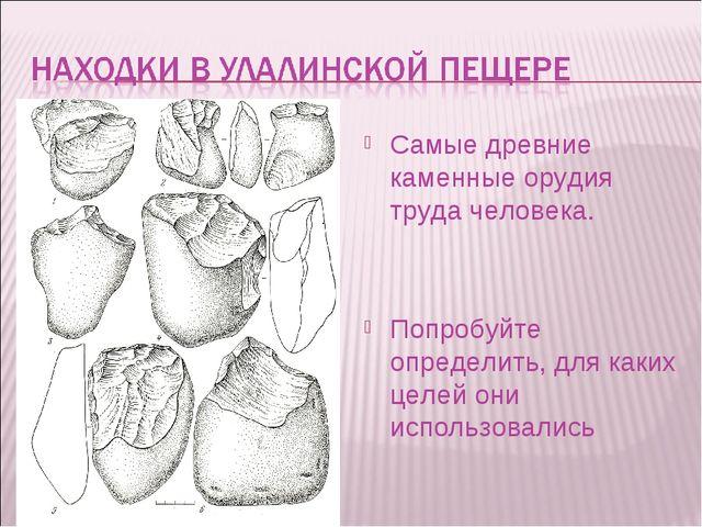 Самые древние каменные орудия труда человека. Попробуйте определить, для каки...