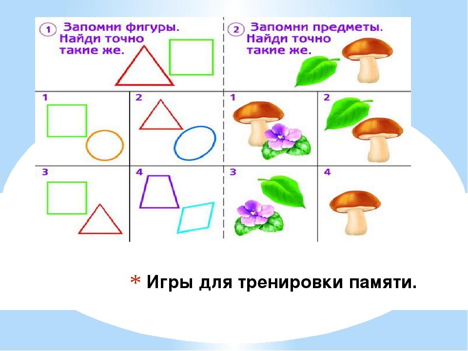 Игры для тренировки памяти.