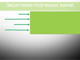 Закрепление полученных знаний Program RAEK; Имя программы Begin Write('текст'