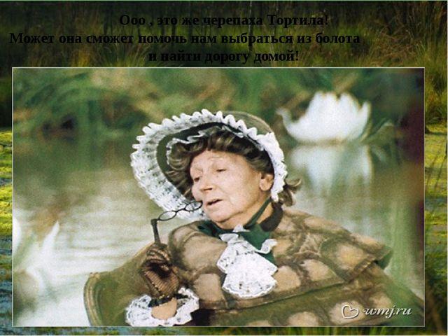 Ооо , это же черепаха Тортила! Может она сможет помочь нам выбраться из болот...