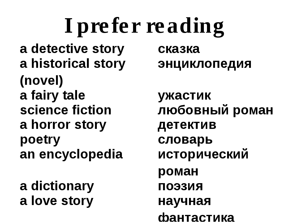 I prefer reading adetectivestory сказка a historical story (novel) энциклопед...