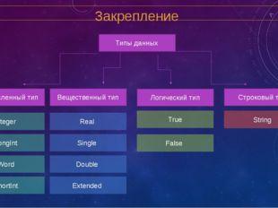 Домашнее задание Структура программы 1. Раздел метол (Label) 2. Раздел конст