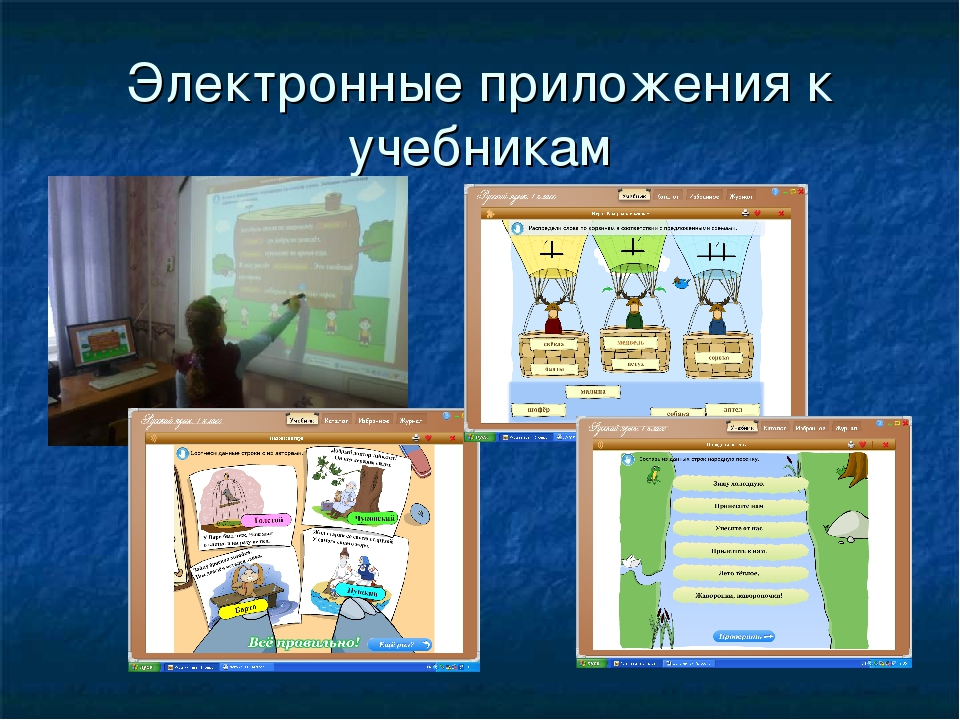 Электронные приложения к учебникам