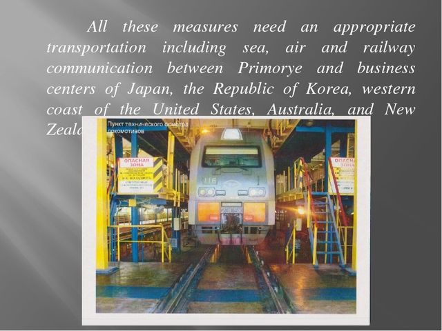 All these measures need an appropriate transportation including sea, air and...