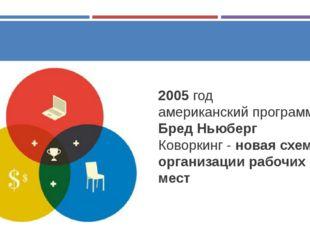 2005 год американский программист Бред Ньюберг Коворкинг - новая схема орган