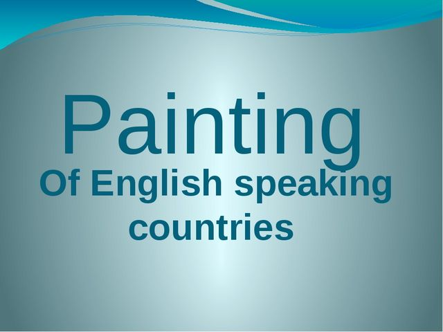 Painting Of English speaking countries