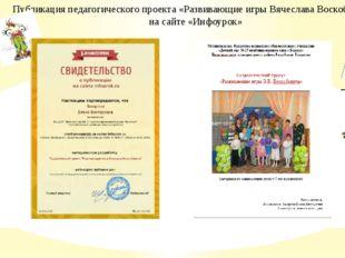 Публикация педагогического проекта «Развивающие игры Вячеслава Воскобовича»