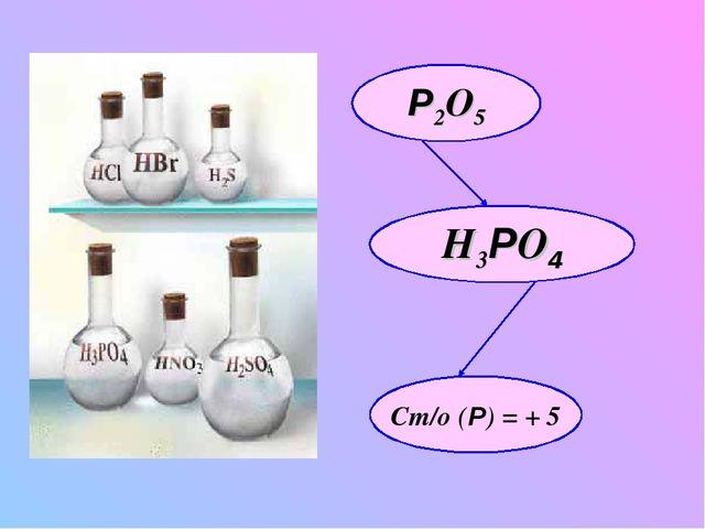 Р2O5 H3РO4 Ст/о (Р) = + 5