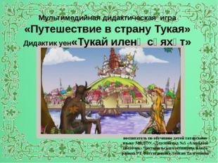 Текст надписи Мультимедийная дидактическая игра «Путешествие в страну Тукая»