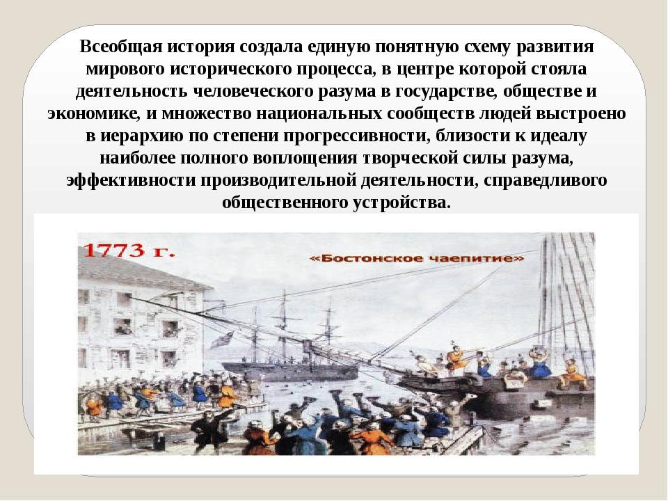 Всеобщая история создала единую понятную схему развития мирового историческог...