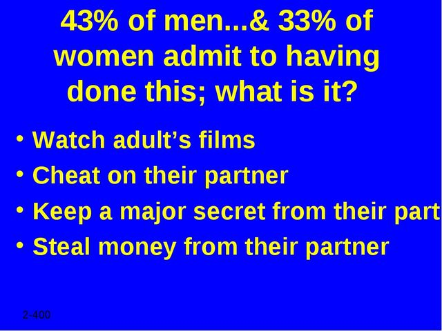 43% of men...& 33% of women admit to having done this; what is it? Watch adul...