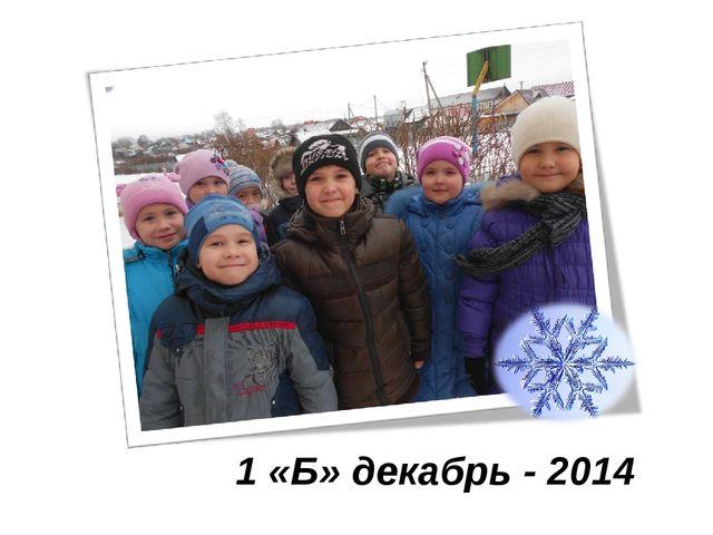 1 «Б» декабрь - 2014