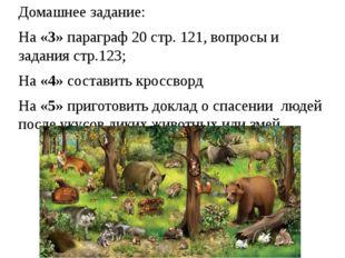 Домашнее задание: На «3» параграф 20 стр. 121, вопросы и задания стр.123; На