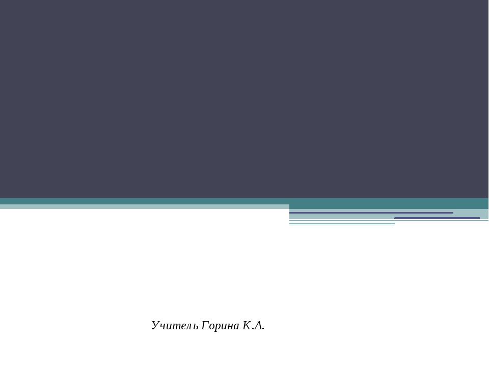 Алгебра - 8 класс. Учитель Горина К.А.