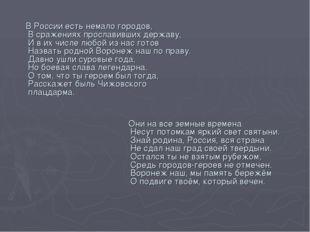 В России есть немало городов, В сражениях прославивших державу, И в их числе