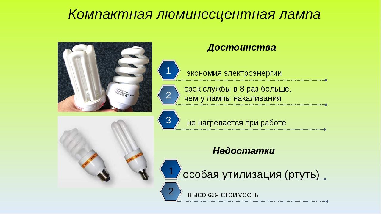 Компактная люминесцентная лампа экономия электроэнергии срок службы в 8 раз...