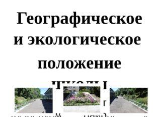 Географическое и экологическое положение школы Школа находится в Кузнецком ра