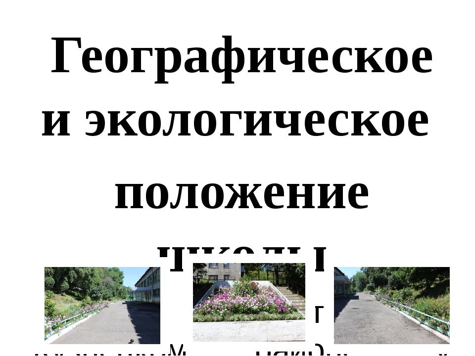 Географическое и экологическое положение школы Школа находится в Кузнецком ра...