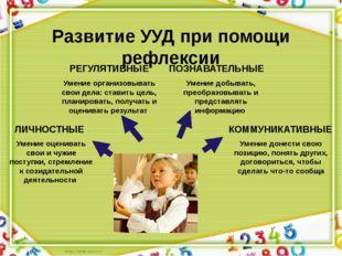 Развитие УУД при помощи рефлексии Умение оценивать свои и чужие поступки, стр