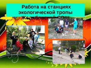 Работа на станциях экологической тропы Желябовской СОШ