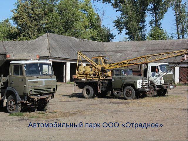 Автомобильный парк ООО «Отрадное»