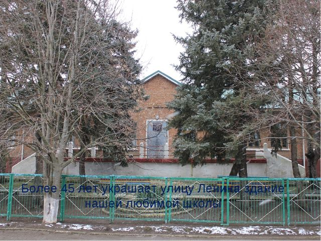 Более 45 лет украшает улицу Ленина здание нашей любимой школы