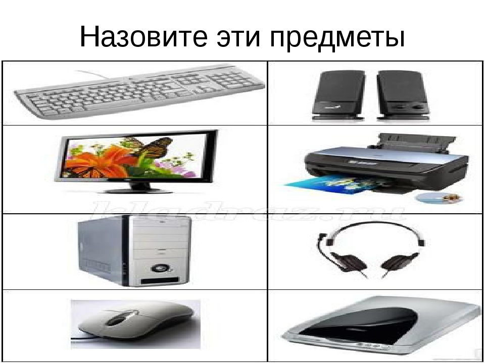Назовите эти предметы