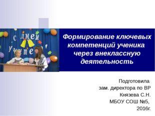 Подготовила зам. директора по ВР Князева С.Н. МБОУ СОШ №5, 2016г. Формировани