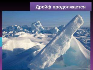 Дрейф продолжается Лёд заскрежетал под вашими ногами. Что происходит? Что нуж