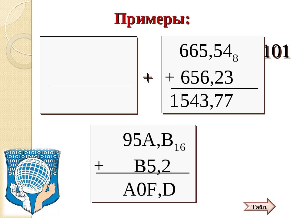 Примеры: *