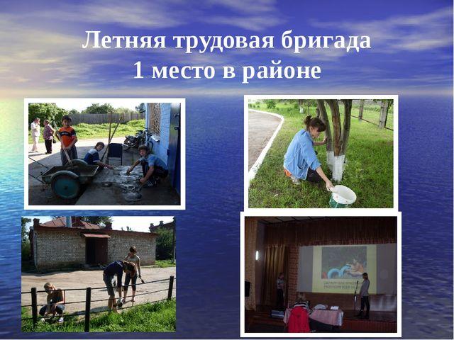Летняя трудовая бригада 1 место в районе
