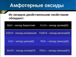 Лабораторная работа Цель работы: получить амфотерный гидроксид (на примере ги