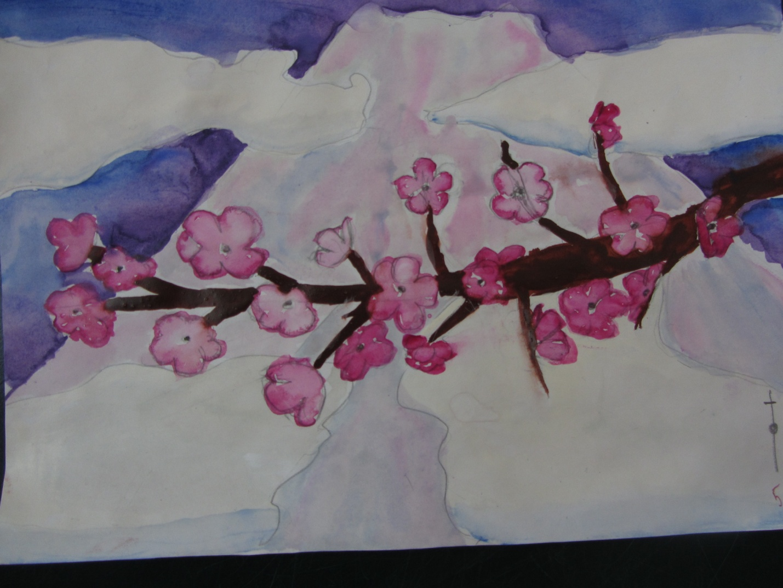 Конспект по изо ветка сакуры