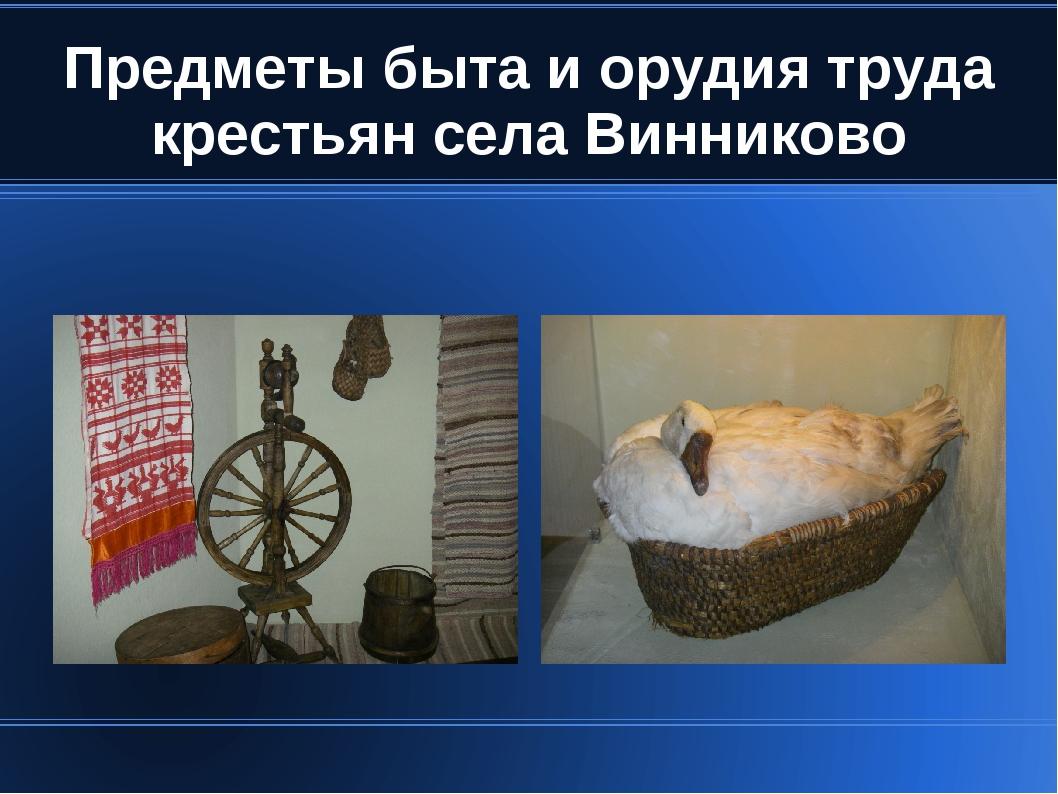 Предметы быта и орудия труда крестьян села Винниково